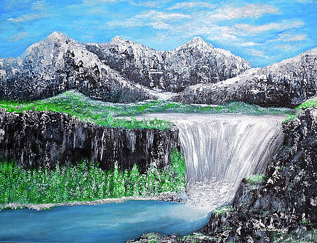 Mountain Falls by Dick Bourgault