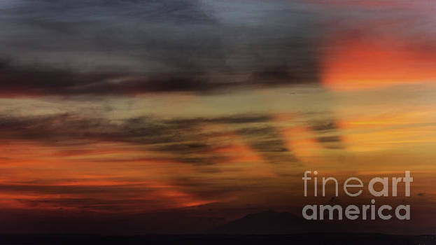 Mountain Far In The Sunset by Christos Koudellaris