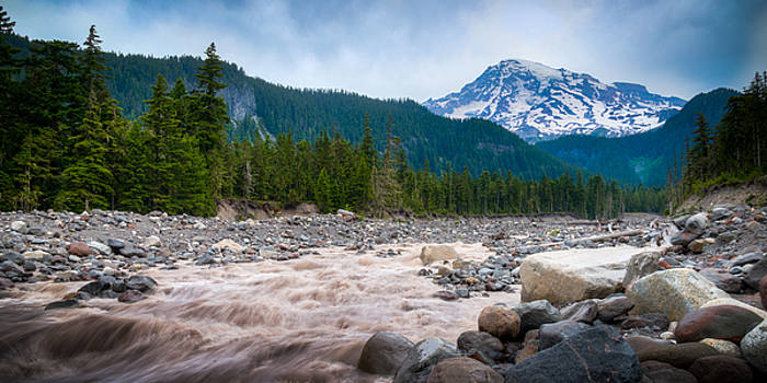 Mountain Glacier River by Chris McKenna