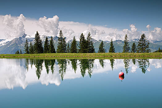 Aivar Mikko - Mountain Lake and Firs with Reflection on Schmittenhohe Zell am See Trail