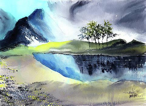 Mountain Lake by Anil Nene