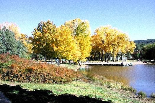 Mountain Lake Autumn by Deleas Kilgore