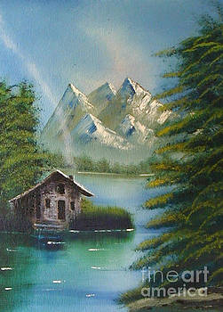 Mountain Lake Cabin by Marianne NANA Betts
