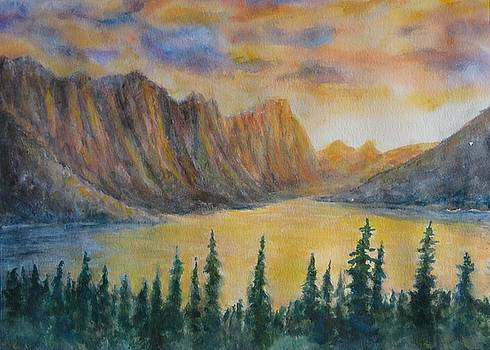 Mountain Lake in the Rockies by David Frankel