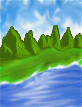 Mountain Lake by Jesus Javier Huerta