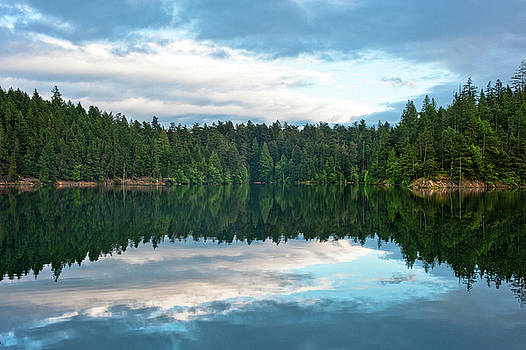 Mountain Lake Reflection by Crystal Hoeveler