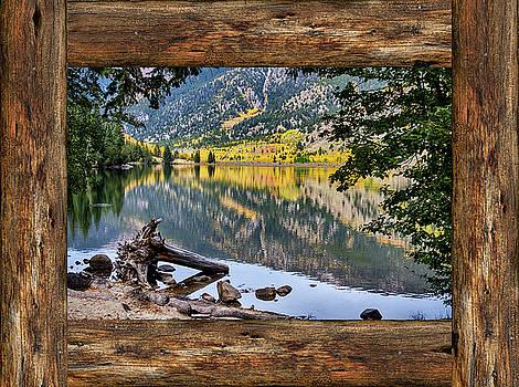 James BO Insogna - Mountain Lake Rustic Cabin Window View