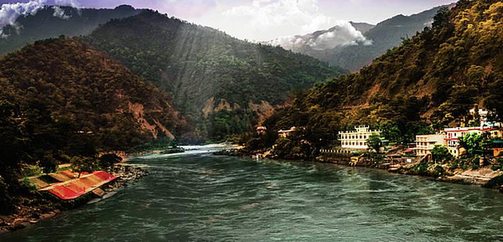 Mountain landscape  by Manjot Singh Sachdeva