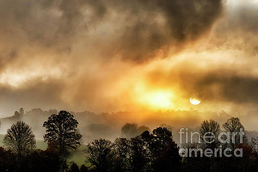 Mountain Morning Sunrise and Fog by Thomas R Fletcher
