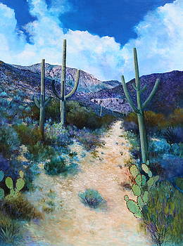 Mountain path acrylic by M Diane Bonaparte