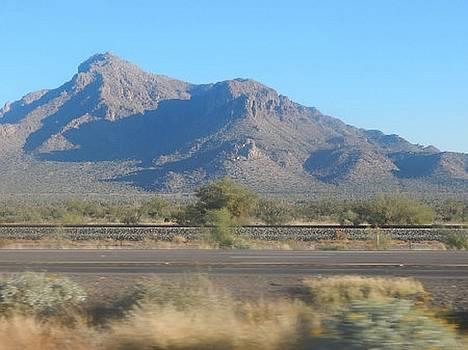 Mountain Peak in Tucson, Arizona by Mozelle Beigel Martin