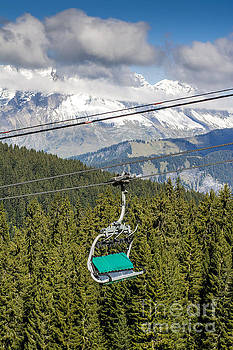 BERNARD JAUBERT - Mountain range and Ski lift