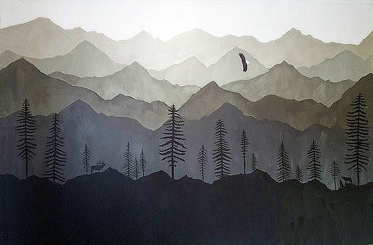 Mountain range and Wild life. by L J Penrod