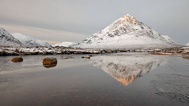 Mountain Reflection on the River Etive by Grant Glendinning