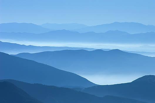 Mountain Ridges Blue by Greg Vaughn