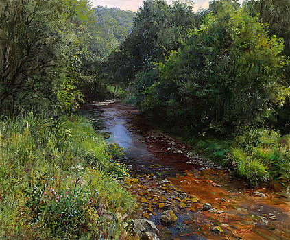 Mountain river by Galina Gladkaya