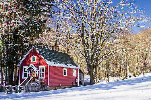Mountain Schoolhouse by Blue Ridge Mountain Life
