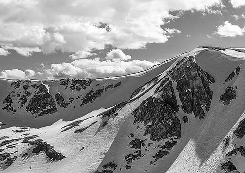 Mountain Shadows Black And White by Dan Sproul