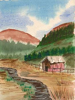 Mountain Shed by Jeanette Lindblad