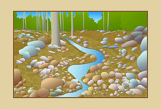 Mountain Stream by David Strong