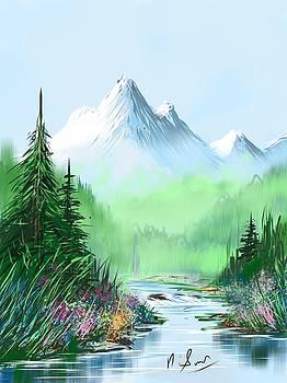 Mountain Stream on iPad by Suresh Chakravarthy