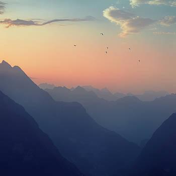 Mountain Sunrise - Pastel Alps by Dirk Wuestenhagen