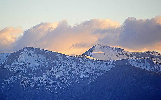 Mountain Sunset by AJ  Schibig