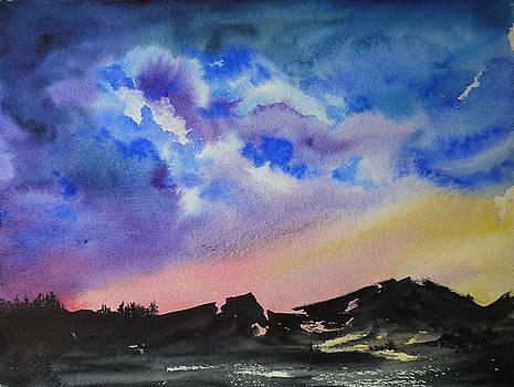 Mountain Sunset by Bitten Kari