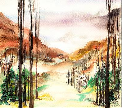 Mountain Valley by Ellen Canfield