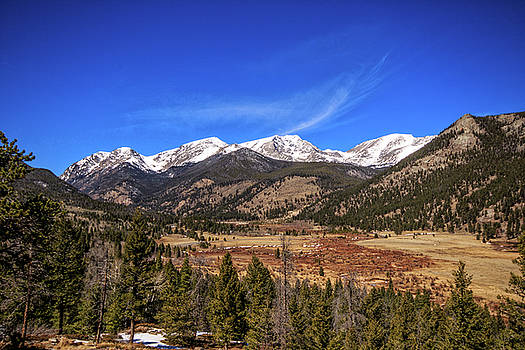 Mountain View from Fall River Road in Rocky Mountain National Pa by Peter Ciro