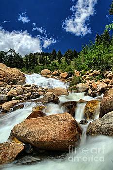 Mountain Waterfall by Bill Frische