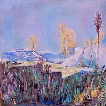 Mountainous landscape by Khalid Saeed