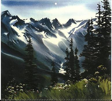 Mountainous Landscape With Grasses by Gillham Studios