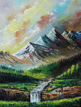 Mountains and Falls by Anthony Mwangi