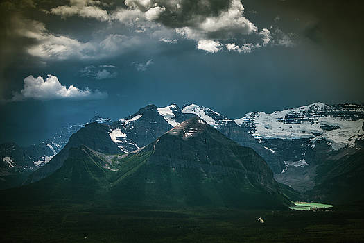 Mountains and Lake Louise, Banff National Park by William Lee