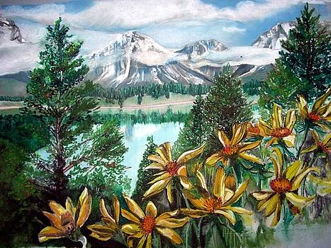 Mountains and Wild Flowers by Tiffany Westrich