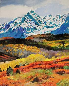 Mountains in the Fall by Bill Dunkley