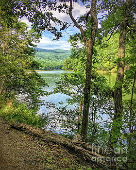 Mountains, Lake and Trail by Kerri Farley
