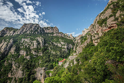 Mountains Montserrat by Alida Thorpe