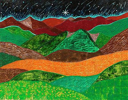 Mountains Sing To The Night Sky by Sandy Thurlow