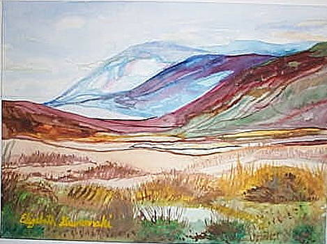 Mountains with Desert in the Southwest by Elizabeth A Gawronski