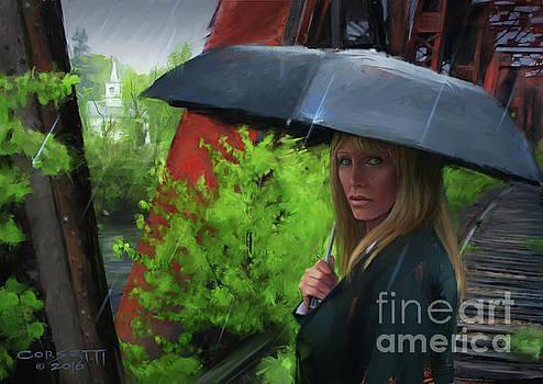Mourner In the Rain by Rob Corsetti