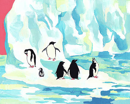 Mourning Penguins by Yimeng Bian