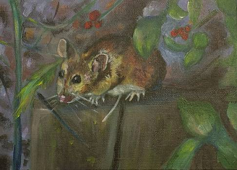 Mouse in the woods by Tara Stephanos