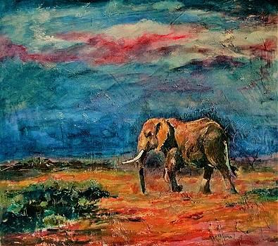 Moving away by Khalid Saeed