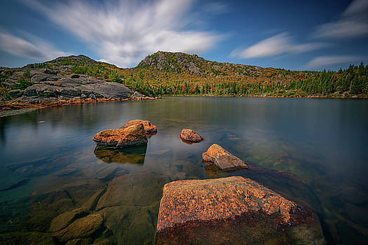 Moving Clouds Over Tumbledown Pond by Rick Berk