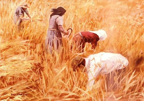Mowing Harvest by George Siaba