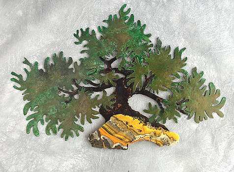 Moyoghi Bonsai with Bumblebee Jasper by Vanessa Williams