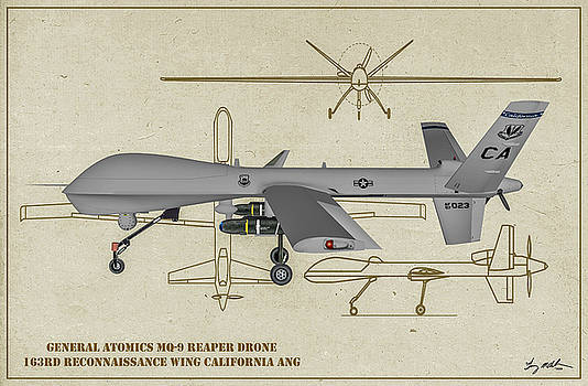 MQ-9 Reaper - Profile Art by Tommy Anderson