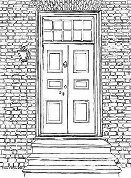 Mr. George Wythe's Front Door by Dawn Boyer